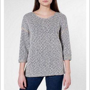 "american apparel ""reversible"" easy sweater"